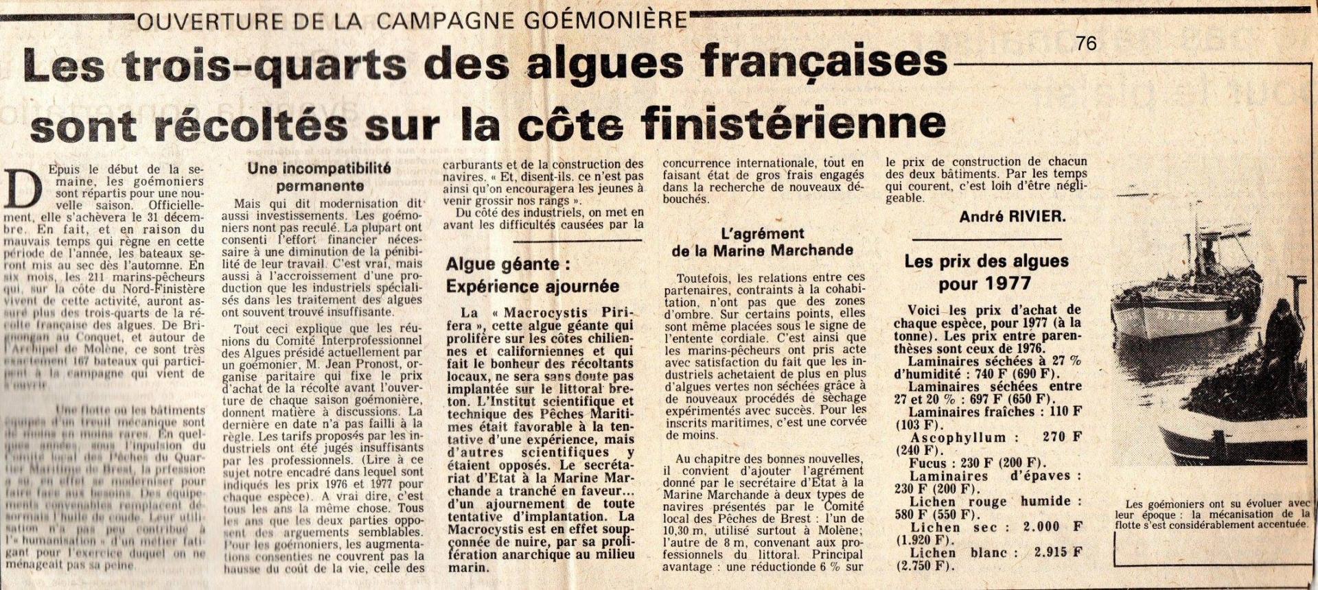 Campagne goemoniere 1976 77